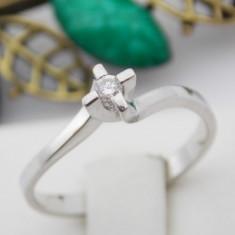 R - Inel aur alb 14k, Diamant cca 0.05 ct., 2.01 grame - Inel diamant