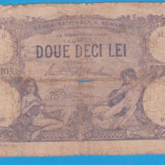 (1) BANCNOTA ROMANIA - 20 LEI 1929 (DOUE DECI - 19 SEPTEMBRIE 1929) - Bancnota romaneasca