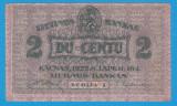 (3) BANCNOTA LITUANIA - 2 LITU 1922 - SERIA I -  RARA