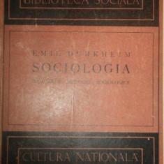 SOCIOLOGIA, REGULILE METODEI SOCIOLOGICE - EMIL DURKHEIM - Carte Sociologie