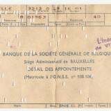 BILET DE BANCA BELGIA