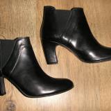 Superbe botine dama BAGATT noi piele integral foarte comode Sz 39, Culoare: Negru, Piele naturala