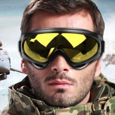 Ochelari ski, snowboard, zapada, sporturi de iarna, cu filtru uv, galbeni