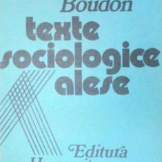 TEXTE SOCIOLOGICE ALESE-RAYMOND BOUDON 1990 - Carte Sociologie