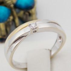 Inel aur 18k, Diamant cca. 0.04 ct., 3.49 grame - Inel diamant