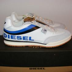 Adidasi Diesel CT311 Mens din panza si piele intoarsa nr. 43 si 44 - Adidasi barbati Diesel, Culoare: Alb, Piele naturala
