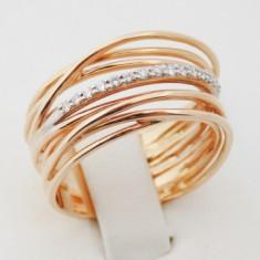 R - Inel aur 18k, 750, Diamante, 8.43 grame - Inel diamant, Culoare: Galben