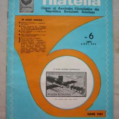 FILATELIA - REVISTA FILATELISTILOR DIN RSR - NUMARUL 6 - IUNIE 1981