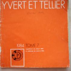 CATALOG FILATELIC FRANCEZ - YVERT ET TELLIER - 1984