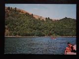 SEPT15-Vedere/Carte postala-Lacul Valiug-Debarcaderul-circulata