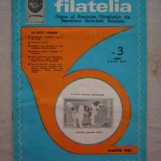FILATELIA - REVISTA FILATELISTILOR DIN RSR - NUMARUL 3 - MARTIE 1981