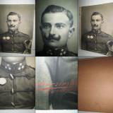 Raritate: Ofiter imperial AUSTRO-UNGARIA anii 1900-Foto mare militara pe carton.