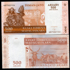 MADAGASCAR- 500 ARIARY 2004(2014)- UNC!! - bancnota africa