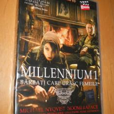 MILLENIUM 1 - BARBATI CARE URASC FEMEILE - FILM DVD ORIGINAL - Film Colectie, Romana