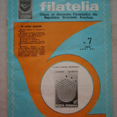FILATELIA - REVISTA FILATELISTILOR DIN RSR - NUMARUL 7 - IULIE 1981