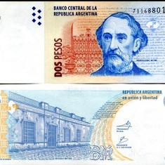 ARGENTINA- 2 PESOS ND 2010- P 352 SERIA K- UNC!! - bancnota america