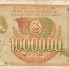 IUGOSLAVIA 1.000.000 dinara 1989 VF!!! - bancnota europa