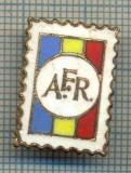 819 NEW INSIGNA - AFR -ASOCIATIA FILATELISTILOR DIN ROMANIA -starea care se vede