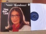 Nana Mouskouri Sing dein lied album disc vinyl lp muzica pop usoara philips 1979, VINIL