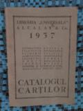 """CATALOGUL CARTILOR LIBRARIA """"UNIVERSALA"""" ALCALAY  Co. 1937"""