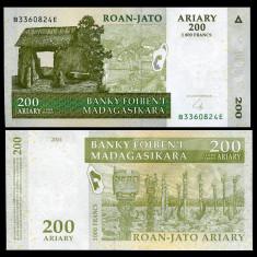 MADAGASCAR- 200 ARIARY 2004- UNC!! - bancnota africa