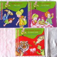 "Trei carti ""ENGLISH FOR CHILDREN / ENGLEZA PENTRU COPII"", V. Poenaru, 2008. Noi - Carte educativa"