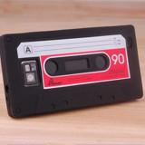 Husa negra retro caseta pt Samsung Galaxy S2  + folie protectie cadou, Negru, Silicon, Carcasa