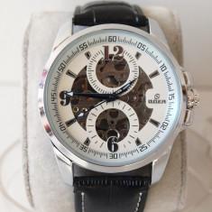 GOER ceasuri SKELETRON ceas AUTOMAT curea PIELE 14@ - Ceas barbatesc Goer, Mecanic-Automatic