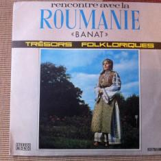BANAT Rencontre avec la roumanie disc vinyl Muzica Populara electrecord folclor lp, VINIL