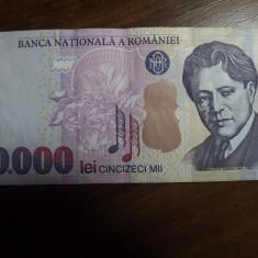 50000 LEI 2000 ENESCU VAR. 2 - Bancnota romaneasca