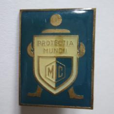 INSIGNA PROTECTIA MUNCII ANII 70, Romania de la 1950