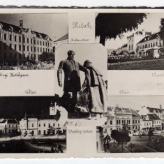 ZALAU MOZAIC-ZILAH , STATUIA VESSELENYI , COLEGIU ,BISERICA ,CASINO ,, Circulata, Fotografie