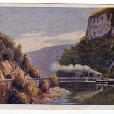 DUNAREA LA CAZANE, KAZANPARTE, ORSOVA, VAPOR CU ABURI, M.F.T.R. 6314-12 - Carte Postala Banat 1904-1918, Necirculata, Printata