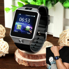 Ceas Telefon SMART-WATCH Inteligent SIM GSM DZ09 2016 Destept Smartwatch Android, Alte materiale, Tizen Wear, Apple Watch