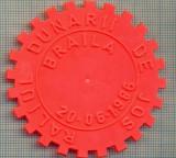 851 NEW INSIGNA - RALIUL DUNARII DE JOS -BRAILA 1986-(ACR) -starea care se vede