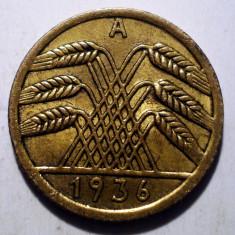 7.461 GERMANIA WEIMAR 5 REICHSPFENNIG 1936 A XF, Europa, Bronz-Aluminiu