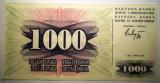 68. BOSNIA HERTEGOVINA 1000 DINARA DINARI 1992 AUNC SR. 211