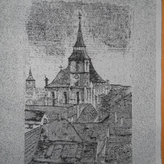BISERICA NEAGRA BRASOV - TESATURA ( TABLOU )