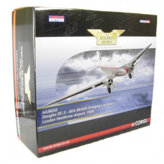 3256.Macheta Douglas DC-3, BEA - British European Airways - CORGI scara 1:72 - Macheta Aeromodel