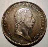 G.017 AUSTRIA ITALIA LOMBARDIA VENETIA FRANZ I 1/2 SCUDO TALER THALER 1824 V XF, Europa, Argint