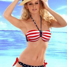 SW641 Costum de baie in doua piese cu model USA, Marime: M