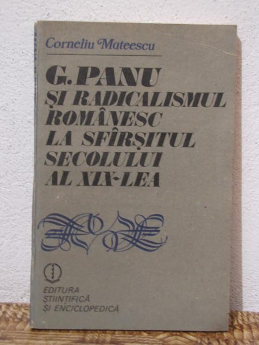 G.PANU SI RADICALISMUL ROMANESC LA SFARSITUL SECOLULUI AL XIX-LEA