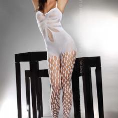 Livia Corsetti 74-2 Lenjerie bodystocking sexi cu plasa - Lenjerie sexy dama LIVIA CORSETTI, Marime: Marime universala, Alb