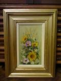Tablou-Flori de câmp semnat Maria Frânculescu