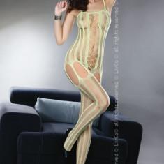 Livia Corsetti 64-1212 Lenjerie bodystocking cu dungi pe picior si decupaje - Lenjerie sexy dama LIVIA CORSETTI, Marime: Marime universala