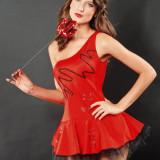 R138 Costum tematic Hot Devil - Costum Halloween, Marime: S/M