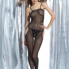 Q58 - Lenjerie Dama - Body Plasa Sexy - Lenjerie sexy dama, Marime: M, Negru