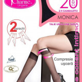 GAT12-1 Ciorapi Charme Monica 3/4 cu varful intarit, set 2 perechi