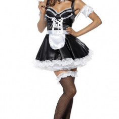 F323 Costum Halloween menajera sexy, Marime: S/M