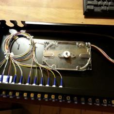 """Patchpanel Fibra Optica CORNING 19"""" 12xLC Duplex, 24xPigtails SM OS2"""